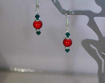 Cranberry Earrings -  Available in Silver or Gold