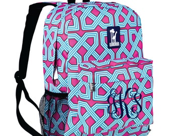 Monogram Backpack and Lunch Bag Set - Wildkin - Personalized - Twizzler - Back to School Crackerjack