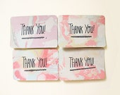 Marbled Postcard - Thank You - Set of Eight - Free Shipping