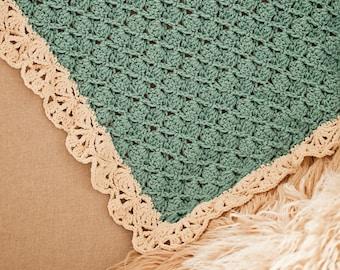 Crochet PATTERN - Seashell Blanket