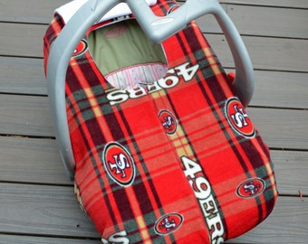 San Francisco 49ers Car Seat Cover, Baby Gift, Football-  by sophiemarie- not a registered product of the National Football League (NFL)