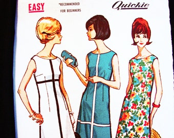 1960s Dress Pattern McCalls Misses size 16 Bust 36 Womens Sheath Dress Sleeveless Dress Pattern Easy to Sew Vintage Sewing Pattern