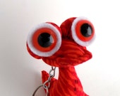 Alien Keychain, Monster Keychain, Cute Keychain, Red Keychain, Toys for Boys by Adopt an Alien named Jessup