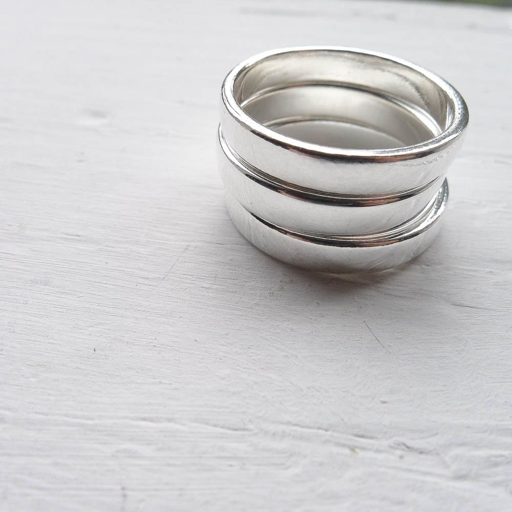 Size 11 Large 4mm Stamping Ring Blanks In Sterling Silver For