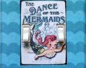 5 CHOICES of Vintage Mermaid Switchplates w/ MATCHING Screws- Mermaid prints mermaid decorations mermaid wall decor mermaid decor merbaby(C)