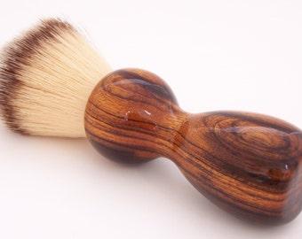 Desert Ironwood 22mm Modern Synthetic Hair Shaving Brush Handle (Handmade in USA) D1 - Retirement Gift - Executive Gift - Gift for Him