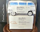 VW Bus Business Card Sculpture #1352 -Made in USA