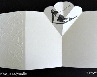 Skier Pop-Up Card -Design 1403