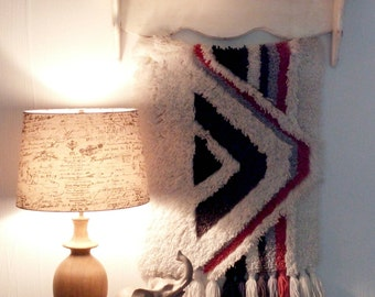 Vintage Aztec Latch Hook Wall Hanging