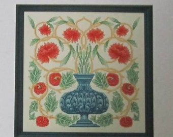 "William Morris ""Flowerpot"" Counted Cross Stitch Chart - Arts & Crafts Movement"