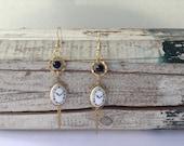Steampunk Clock Earrings