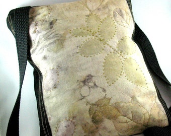 Crossbody Purse, Eco print purse