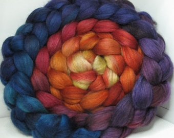Merino Yak Bombyx Silk 60/20/20 Ecru Roving Combed Top - 5oz - Joy 4