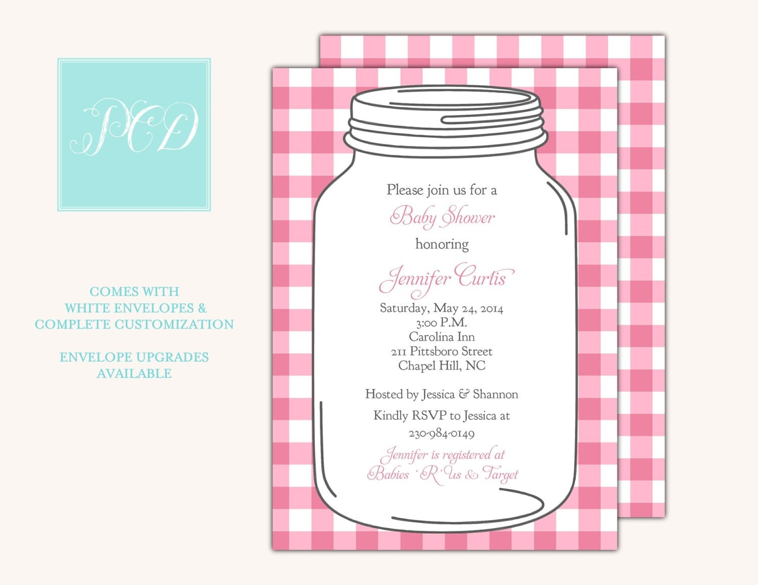 mason jar baby shower invitation mason jar invite printable