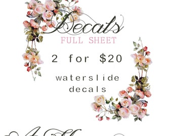 2 for 20 - Choose any of AM Design Waterslide Decals For Two Full Sheets for only 20!