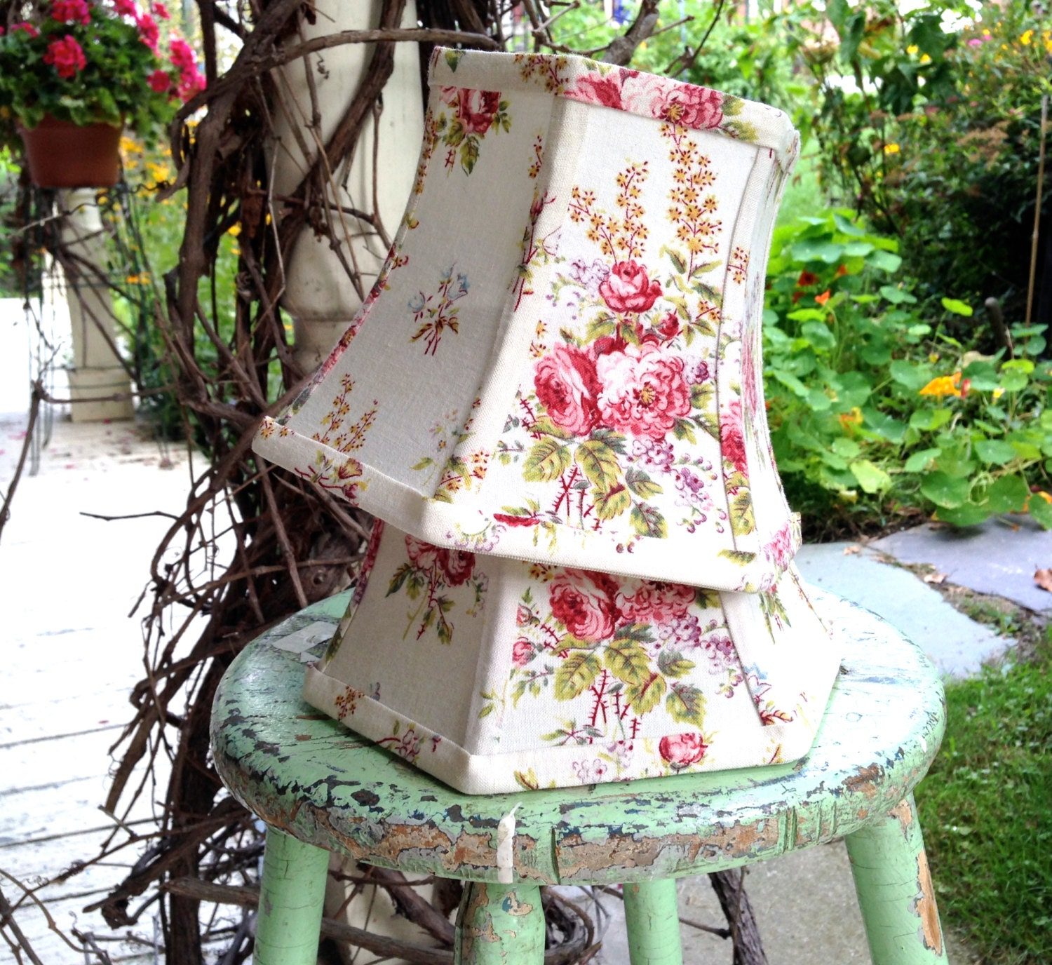 French Cottage Lamp Shade Small Lampshade Cottage Look