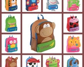 Kids backpack /stephen joseph backpack / personalized backpack / preschool backpack/ toddler backpack / SIDEKICK