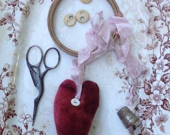 Velvet Heart Pinkeep
