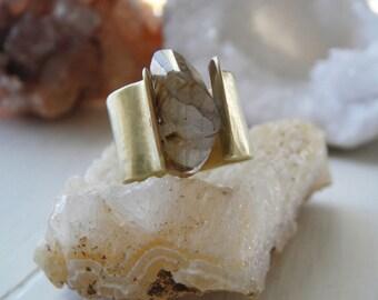 Rutilated Quartz Nugget Ring