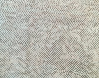 Gorgeous and unique snake print cream color, lambskin leather - a 14 sft hide