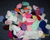 HUGE CLEARANCE Crocheted or Knitted Shoes Will Fit 18 Inch Doll CLEARANCE