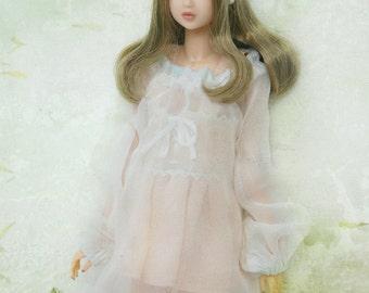 Jiajia Doll Silk Meow white baby dress fit Momoko Misaki Azone Ruruko Dorandoran Fashion Royalty Barbie