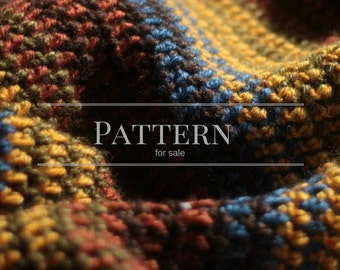 Crochet Blanket pattern, Easy stripe afghan