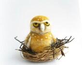 Needle Felted Owl,owl ornament, small, animal ornament, needle felted owl, needle felted animal,Christmas ornament, nursery ornament