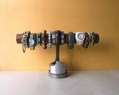 Piston Jewlery Stand, Boyfriend Gift, Mens Watch Stand, Jewelry Display, Bracelet Holder,  Steampunk Jewelry Organizer,  Industrial Style