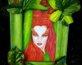 "Framed Portrait Art Print: ""Toxic"" - Poison Ivy Uma Thurmn Batman Villain"