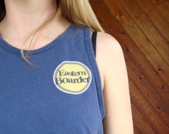 extra 25% off SALE ... Navy EASTERN BOARDER Tank Top Tee - Vintage 90s - Xs S