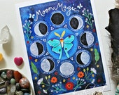 Moon Magic - Moon Phases with Intention - Goal Setting - ART Print 8.5x11