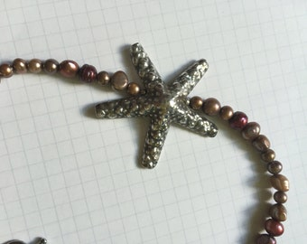 Pearl and Hill Tribe Starfish Necklace