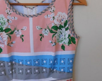 peony...vintage tabelecloth tea dress with pockets