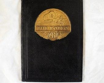 Vintage high school yearbook 1930s 1931 The Rodeo Burns Oregon