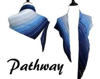 Knit Shawl Pattern - Pathway - Shawl Pattern - Simple Knitting Pattern