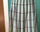 The Connie Stevens - 1960's REVERSIBLE Wool Plaid Pleated Skirt