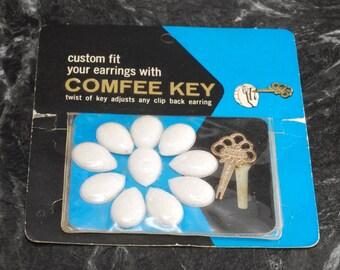 Vintage 1964 Comfee Key Custom Fit Earring Back ToolNew in Original Package