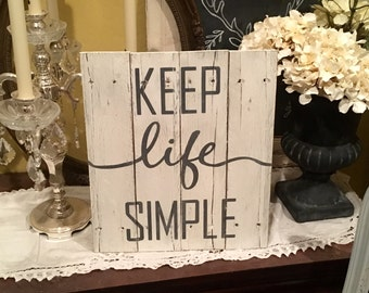 Wood sign, Sign, Wooden sign, Pallet sign, Cottage decor, Cottage chic, Farmhouse decor, Framed art, Inspirational quote, Home decor