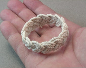 child size thee strand rope bracelet sailor bracelet rope jewelry turks head knot bracelet extra small baby bracelet 3986