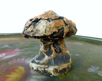 Vintage Art , Stan Langwait Studio Mushroom Sculpture Ceramic Art Pottery, Handcrafted Shapes of Clay Mt. St. Helens Ash Studio Toadstool