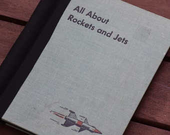 All About Rockets and Jets--Upcycled Blank Book