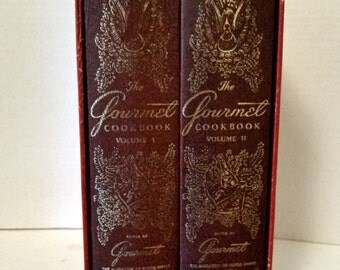 Vintage Cookbook 2 Volume Set, Gourmet Magazine Cookbook Collection