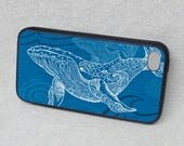 Whale One Color iPhone Case, Rubber iPhone 6 cover, iPhone 4/4s, iPhone 5/5s