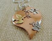 Custom Broken Mended Heart Pendant Necklace (Sample)