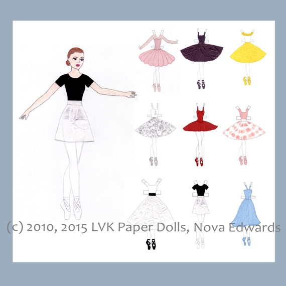 Millicent Ballerina Paper Doll