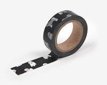Masking Tape / Washi Tape / Deco Tape - 15mm - Bichon Frise - Dailylike from Korea