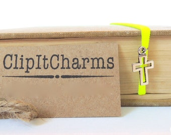 Book Mark colorful Stretchy with your favorite Initial charm