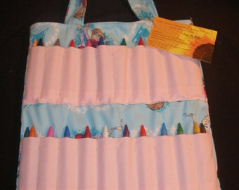 Frozen Themed Kids Crayon Activity Bag
