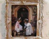 Miniature dollshouse picture, Victorian Children, children, Victorian, Twelfth scale ,dollhouse miniature